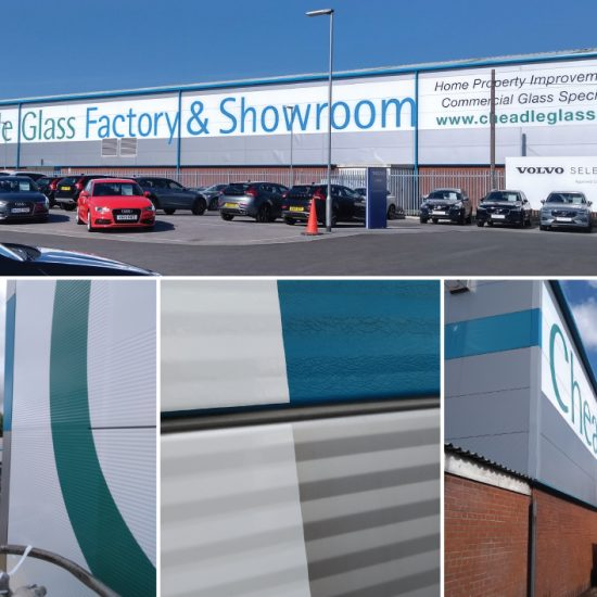Cheadle Glass Building Advetisement