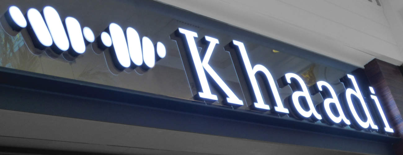 Khaadi - illuminated sign