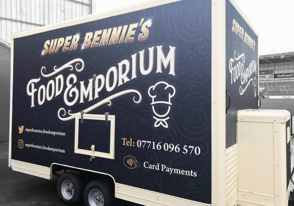 Supper Bennies Food Emporium Catering Van Graphics